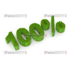 100% grass
