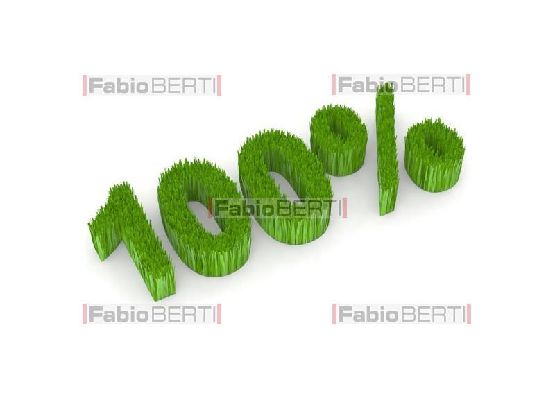 100% green