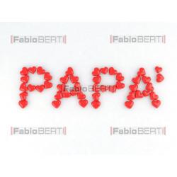 scritta papà con cuori