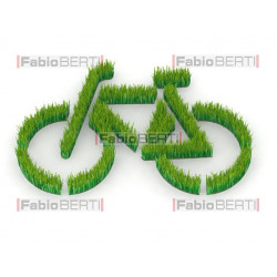 green bicycle symbol