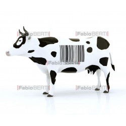 cow with barcode