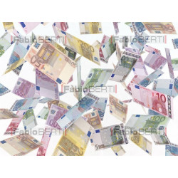 euro banknotes in the air