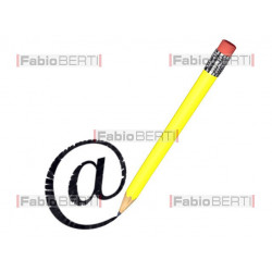 email symbol with pencil