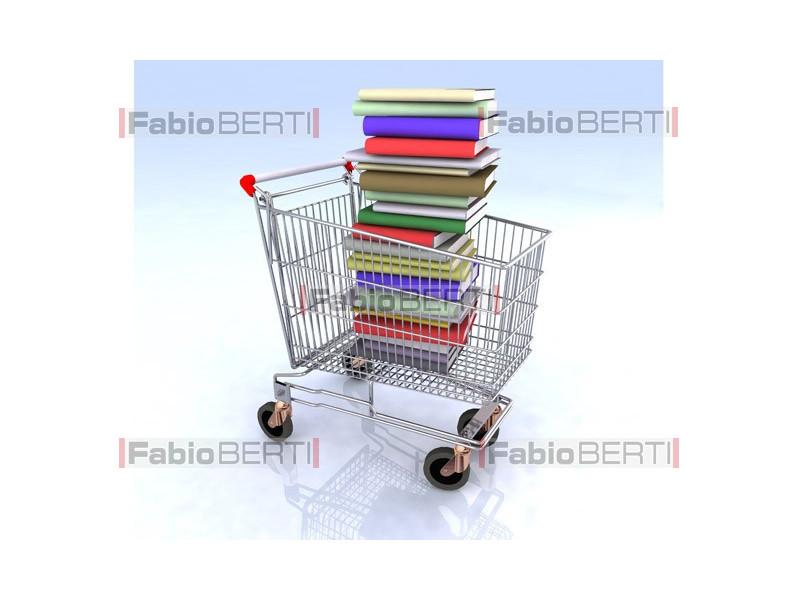 carrello con libri